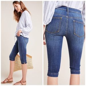 Anthropologie Pilcro Mid-Rise Pedal Pusher Jeans
